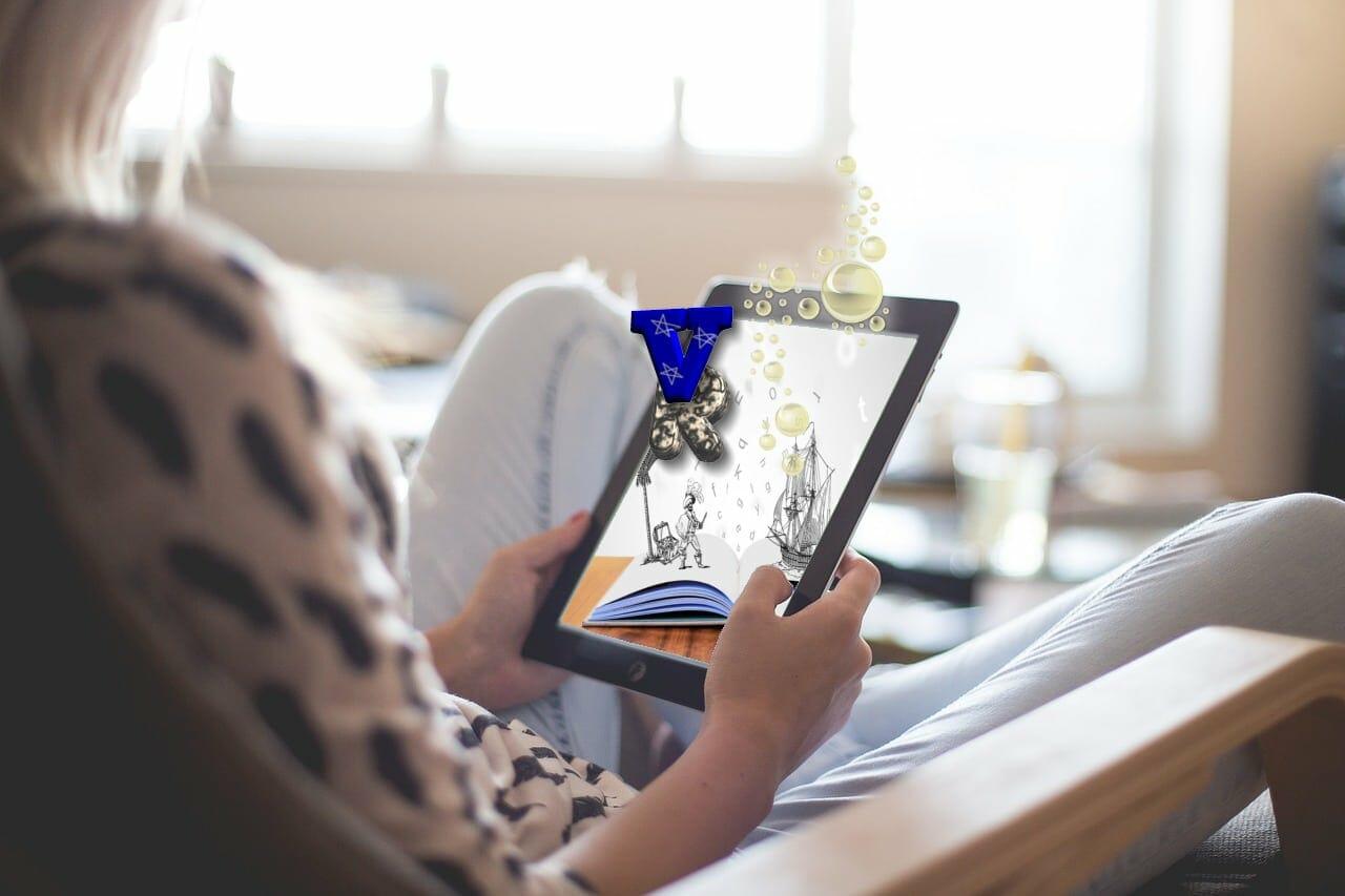 Verwandeln die flachen elektronischen Bücher in ein immersives Erlebnis